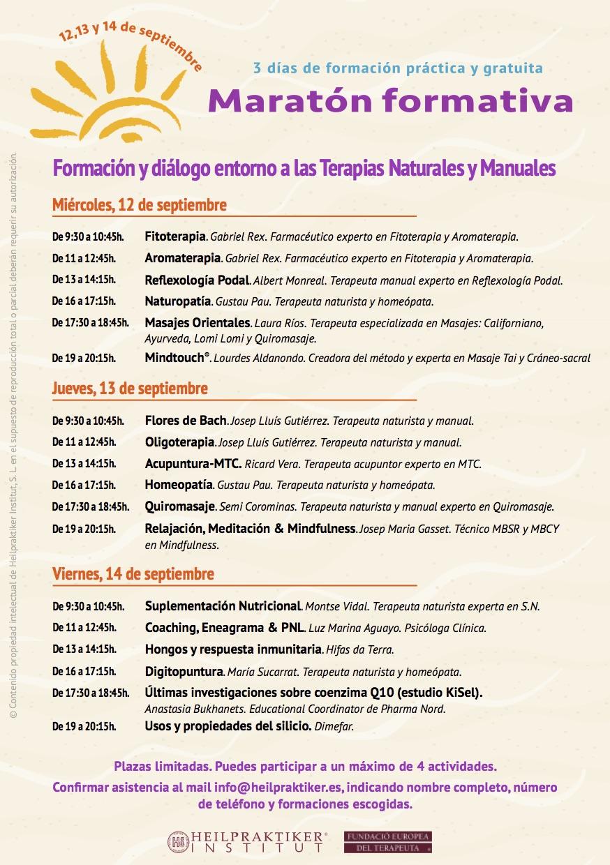Formación y diálogo entorno a las Terapias Naturlaes y Manuales_2018